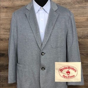 Brooks Brothers Gray Cotton 2 BTN Blazer Jacket XL